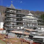 Ponteggio Santuario Madonna di Capodacqua - Studio Tecnico Asse Ingegneria